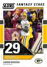 15 card lot of 2017 Score Football Aaron Rodgers Fantasy Stars Green Bay Packers