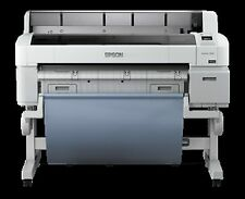 "Used Epson SureColor T5000 36"" Wide Large Format Big Inkjet Printer Plotter"