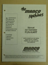 Manco Spanish Fun-Kart Assembly Operation Maintenance Operator Manual