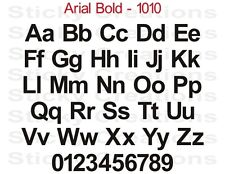 #1010 CUSTOM LETTERING Text Window Decal Vinyl Sticker Personalized Arial Bold