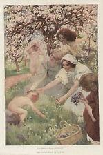 Spring Landscape by Sigismond Ivanowski Vintage 1911 Antique Art Print