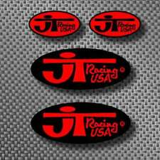 4pc Vintage JT Racing Motocross sticker decals Red/Bk AHRMA KD100 RC Works TM CR