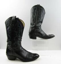 Men's Adam's Black Leather Cowboy Western Boots Size: 8 D