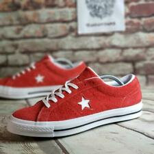 Converse One Star Ox Men's Shoes Red Suede Size 11 Low Top 158434C NEW