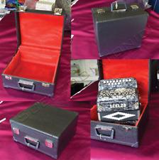 Valigia-Custodia, Astuccio Legno LUSSO per Organetti  8 bassi e 4 bassi