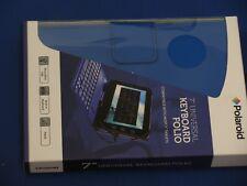 "Polaroid7"" Universal Keyboard Folio Stand w/Micro USB connectivity. Color: Blue"