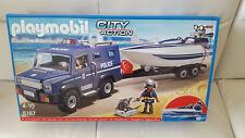 PLAYMOBIL®  5187 Polizei-Truck mit Anhänger und Speedboot Unterwassermotor NEU