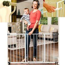 Baby Safety Gate Hallway Walk Thru Toddler Pet Stairway Dog Child Wide Fence NEW