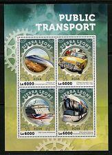 SIERRA LEONE  2016 PUBLIC TRANSPORT TRAIN  BUS TAXI SHIP S/S  MINT NEVER HINGED