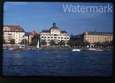 1958 red  kodachrome photo slide Zurich Switzerland