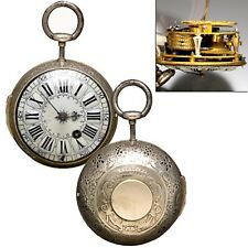 RARE STERLING SILVER QUARTER HOUR REPEATER ONION POCKET WATCH CA1720S | VERGE FU