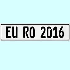 1 Stück KFZ Kennzeichen OHNE EU ZEICHEN Nummernschild Autoschild BLANKO