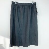 JH Collectibles Womens Gray Size 16 Career Wool Skirt NWT Below Knee Lined