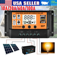 100A MPPT Solar Panel Regulator Charge Controllers Auto Focus Tracking 12V/24V
