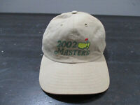 The Masters Hat Cap Brown Green Augusta National Golf Golfer Strap Back Mens