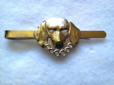Hunters Theme Tie Bar Silver Tone Hunting Dog With Collar-Made In Czech