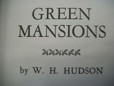 Green Mansions (W.H. Hudson, Hardcover) International Collectors Library Edition