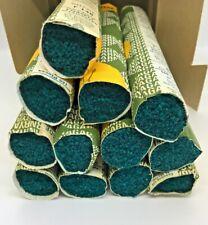 New listing Vintage Ryagarn Yarn 100%Wool Latch Hook Rug England Box of 17 Packs, Dark Teal