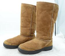 UGG Australia ULTIMATE TALL Braid 5340 Women's Sz 9 Suede Sheepskin Winter Boots