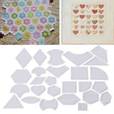 27Pcs Mixed Handmade Quilt Templates DIY Tools Patchwork Quilter Quilting Supply