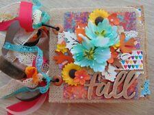Handmade Mini Scrapbook paper bag fall photo Album Paper Crafting.Ocbrandy Style
