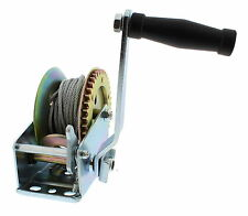 Hand Winch Crank Gear Winch & Cable, Heavy Duty, for Trailer, Boat or ATV