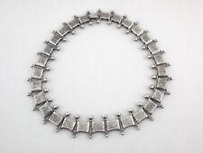 DANECRAFT STERLING Silver Link Necklace Etched Vine Vintage USA Signed RARE *