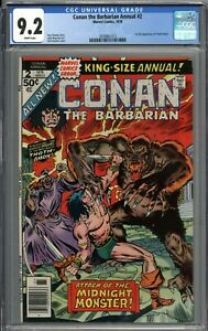Conan the Barbarian Annual #2 CGC 9.2 NM- 1st Appearance of Thoth-Amon WHITE