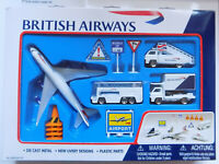 British Airways Airport Play Set with plane - vehicles - signs  Free Delivery