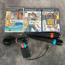 Singstar Playstation 2 Bundle 2 Mikrofone + 3 Spiele ps2 getestet Karaoke Spaß