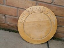 OLD VINTAGE SYCAMORE ASH WOOD ROUND RAISED CENTRE KITCHEN BREAD CHOPPING BOARD