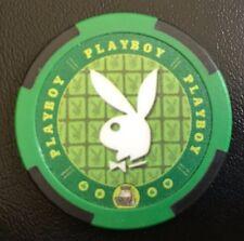 PLAYBOY Poker Chip. Uncirculated. Green.