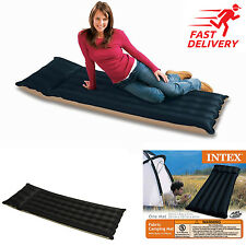 Inflatable Air Bed Travel Camping Mattress Sleeping Rest Mat Single With Pillow