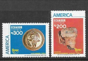 ECUADOR Sc 1227-8 NH issue of 1990 - ART
