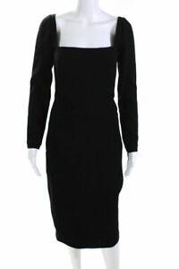 LELA ROSE Black Knee length Sheath Dress Sz S 656017