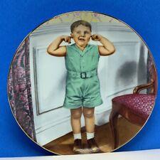 The Little Rascals collectors plate Hamilton Spanky Pranks King World finger ear