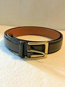 NWT Trafalgar Men's Dress Belt Burgundy Cortina Leather Sz 36 Made in USA