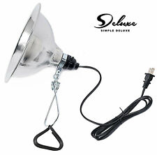 """Simple Deluxe Clamp Lamp Light with 8.5"""" Aluminum Reflector up to 150W E26/E27"""