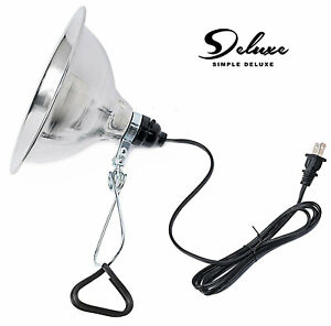 "Simple Deluxe Clamp Lamp Light with 8.5"" Aluminum Reflector up to 150W E26/E27"