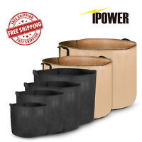 iPower 5-PACK Plant Grow Bags Fabric Pots with Handles, 3 5 7 10 15 20 Gallon