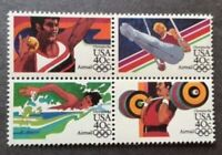 Scott #C105-108 Summer Olympics 40c (Airmail Block of 4)1983 MNH OG/Free Ship