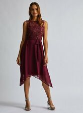 Dorothy Perkins * Billie & Blossom Mora Encaje Vestido Pañuelo Dobladillo, RRP £ 40, tamaño 10