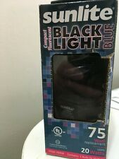 Sunlite SL20/BLB 20 Watt Black Light Spiral Energy Saving Light Bulb, Medium
