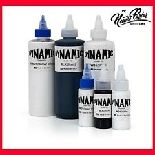 Dynamic Color Co - Triple Black, Heavy White, Black and White Inks (1oz & 8oz)