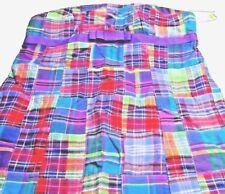 ** ANTHROPOLOGIE  sz 10 Plaid Patchwork Cotton Strapless Dress NWT Sam Ty
