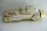 Avon Gold Car Decanter After Shave 8 Fl Oz Collectible Empty Bottle