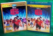 NEW RARE OOP DISNEY WRECK IT RALPH 3D 2D BLU RAY & DVD MOVIE & SLIPCOVER 2012