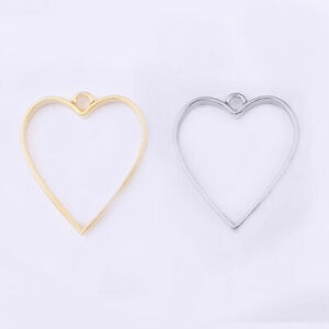 10x Plating Alloy Pendants Hollow Frame Glue Charms Blanks Frame Gold/Silver