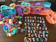 Huge Lot Littlest Pet Shop LPS Figures, Houses, Accessories, etc. ~ 55 Figures .
