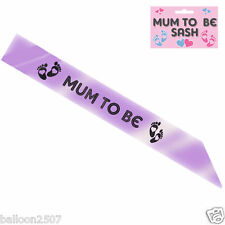 A BABY SHOWER SASH MUM TO BE SASH PARTY GIFT RIBBON ACCESSORY SASH